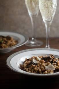 Farro Risotto with Roast Mushrooms - Healthy. Delicious.