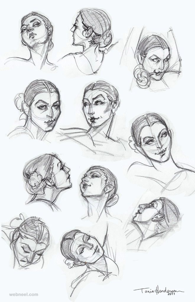 How to Draw a Face - 25 Step by Step Drawings and Video Tutorials ...
