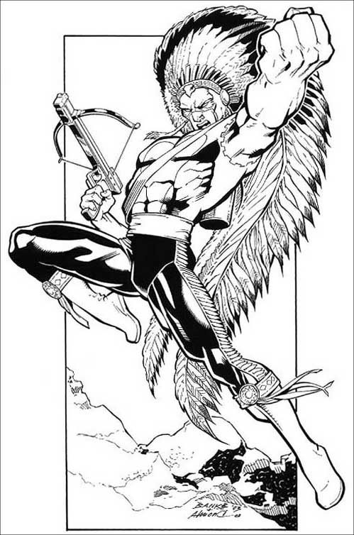 American Eagle - Darryl Banks (Marvel Comics) * Coloring Pages ...