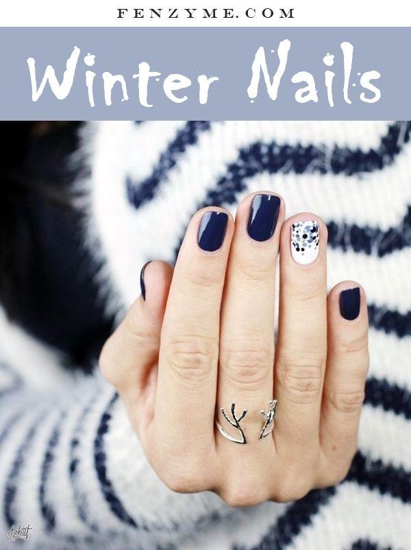 40 Inspirational Winter Nails Designs 2017 | Nail design 2015 ...