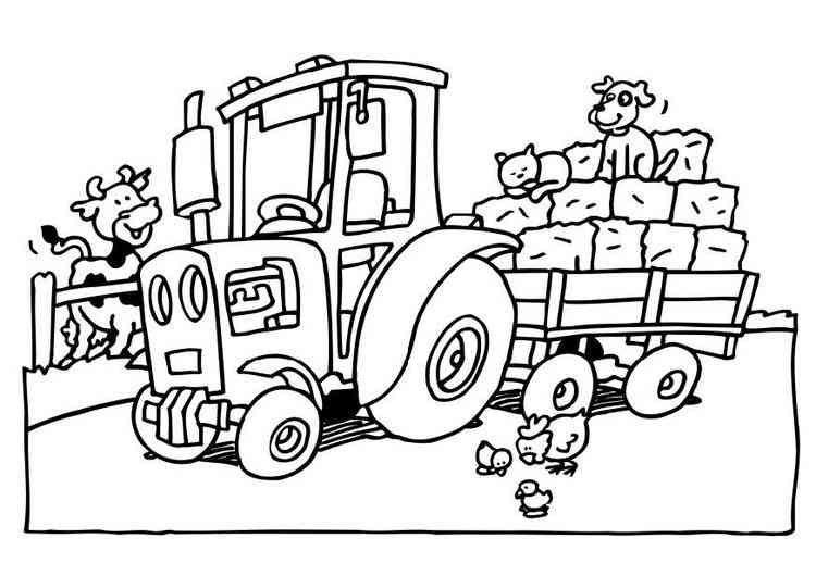 traktor (2) | ausmalbilder traktor, ausmalbilder, ausmalen