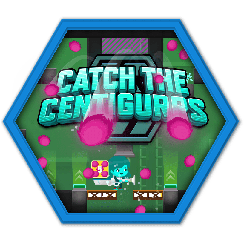 """Play """"Catch the Centigurps"""" and learn to count to 100 by"""