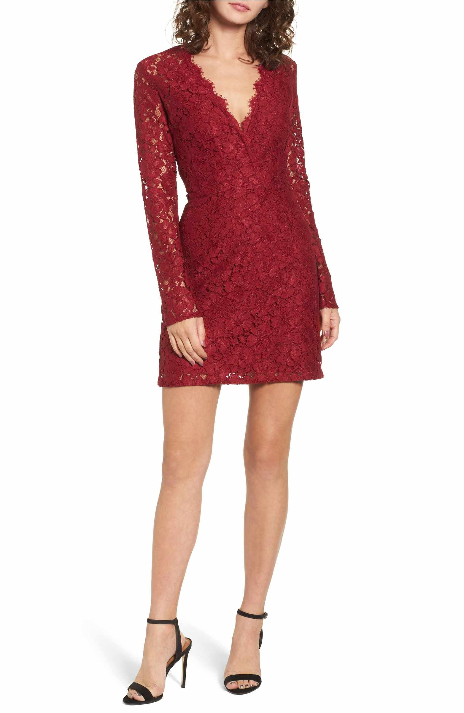 Wayf Say It Out Loud Lace Dress Nordstrom Red Lace Cocktail Dress Cocktail Dress Lace Lace Dress [ 2400 x 1564 Pixel ]