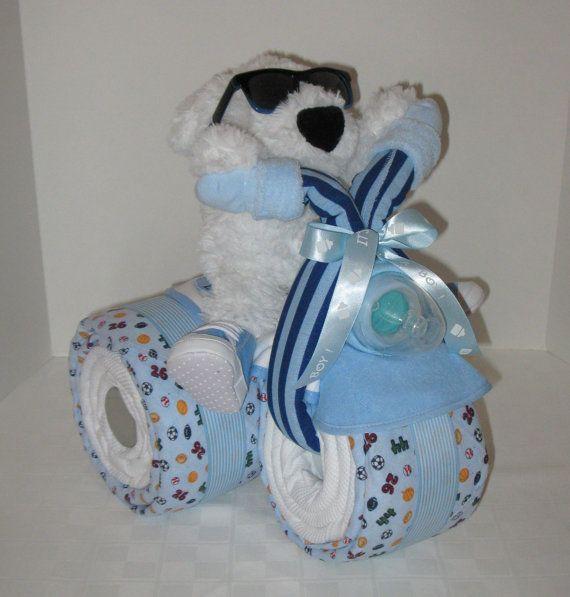 Motorcycle Trike Diaper Cake