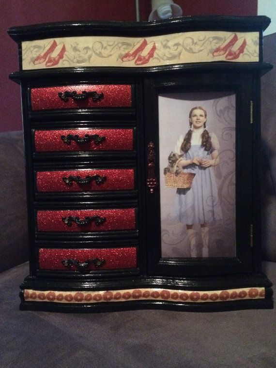 RESERVED Dorothy and Friends Wizard of Oz Jewelry Box jewelry box