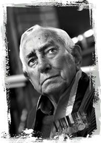 Portrait photo of  Bob Waterer:Guringai Man Retired Gunner, Royal Regiment of  Australian Artillery, 2/4th Field Regiment World War 2 Veteran 'In the Army I made many friends and the real meaning of mateship was established for me'