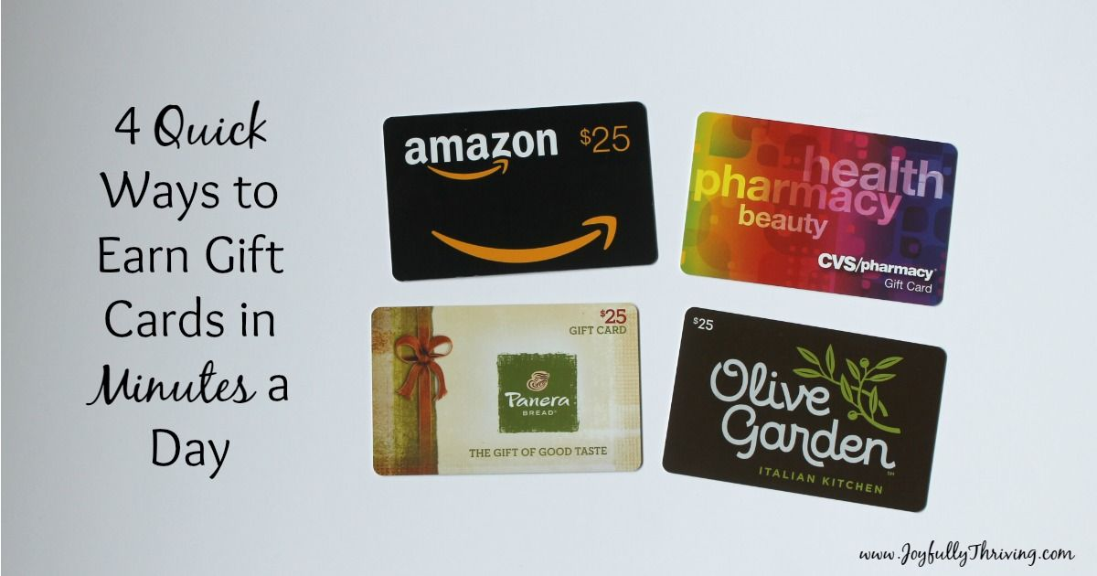 4 quick ways to earn gift cards in minutes a day with