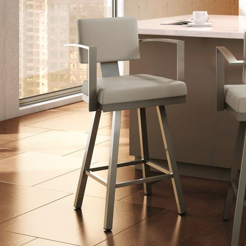 Neil Faux Leather Bar Counter Stool Set Of 2 Bar Stools With Backs Stools With Backs Oak Bar Stools