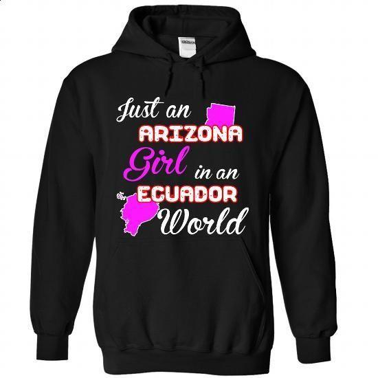 Arizona-ecuador Girl - #sweatshirt cutting #hipster sweatshirt. ORDER HERE => https://www.sunfrog.com//Arizona-ecuador-Girl-2670-Black-Hoodie.html?68278