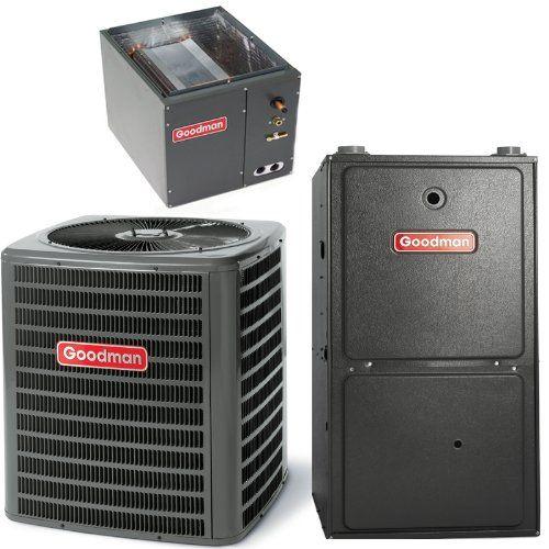 2 5 Ton 13 Seer Goodman 70 000 Btu 95 Afue Gas System Gsx130301 Capf3131b6 Gmh950703 Central Air Conditioners Furnace System High Efficiency Gas Furnace