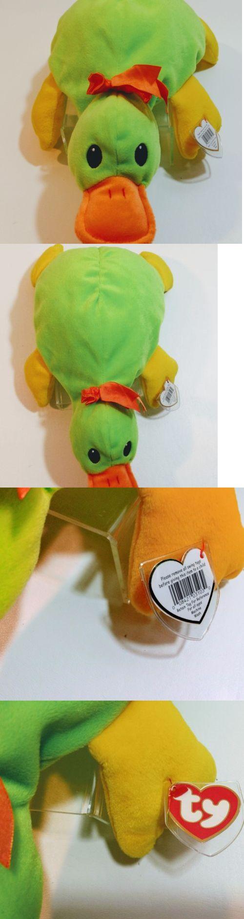 97b31ed2267 Pillow Pals 1633  Ty Pillow Pals Paddles The Platypus 1998 Plush Stuffed  Toy -