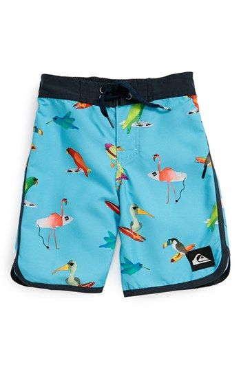 44054def24 Quiksilver 'Pollybird' Board Shorts (Baby Boys) available at ...