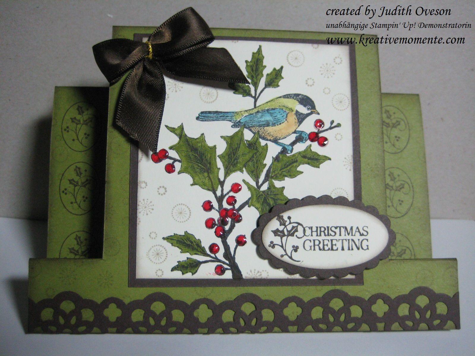 Kreative Momente: Beautiful Season Center Step Card   Tags Til Christmas    Confetti Stamps
