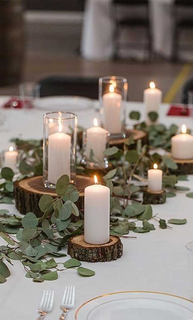 Rustic Wedding Centerpiece For A Rustic Meets Roma