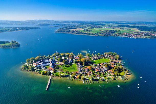 Fraueninsel, una de tres islas en Chiemsee, en Alemania
