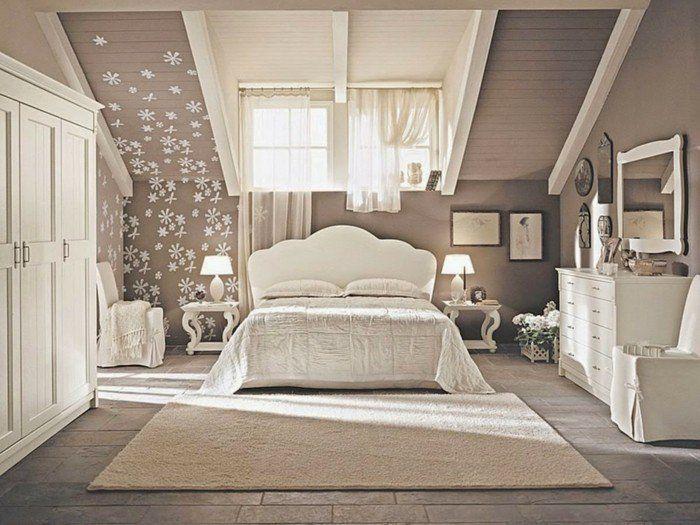 Kleines Schlafzimmer gestalten wie ein Designer Malern - schlafzimmer mit dachschrage gestalten wohnideen