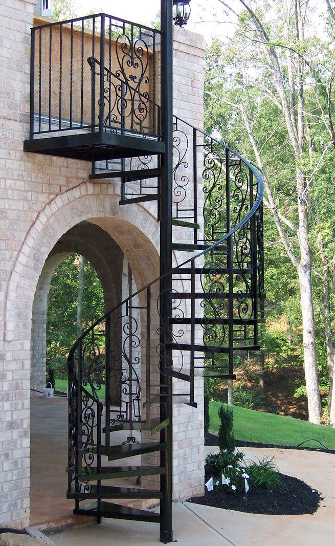 Escalier En Spirale Fer Forge Noir Escalier En Colimacon
