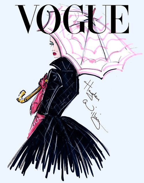 hermans Fashion Illutrations Chic Glamour  - Vogue fashion illustration