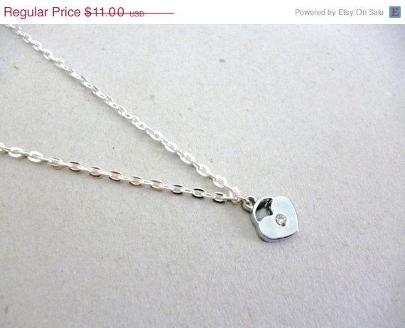 Modern Minimal Silver 18 Kgp Delicate Heart Necklace http://etsy.me/1BcEh8D @Etsy #Silver #Gold #Heart #Love #Jewelry #Necklace #Delicate