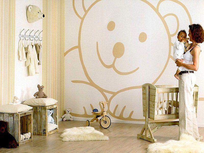 Decoración con murales para habitaciones de niños Dormitorio - murales con fotos