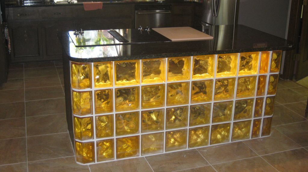 How To Design A Custom Glass Block Bar Base And Counter Glass Blocks Glass Bar And Bar Furniture