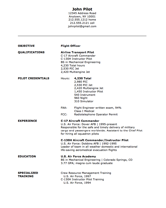 military flight officer resume sample httpresumesdesigncommilitary - Military Mechanical Engineer Sample Resume