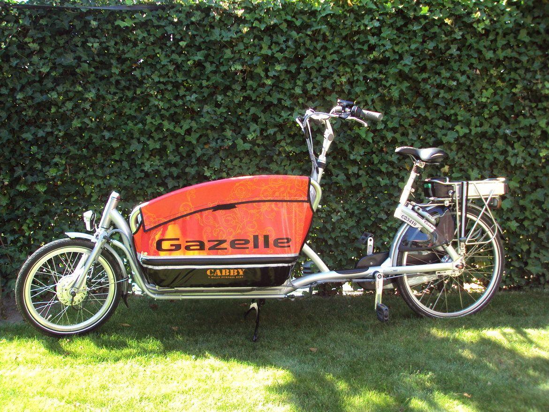 Gazelle Cabby omgebouwd naar elektrisch met ombouwset elektrische ...