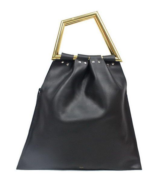 Celine Original Leather Tote Bag C2010 Black - $389.00