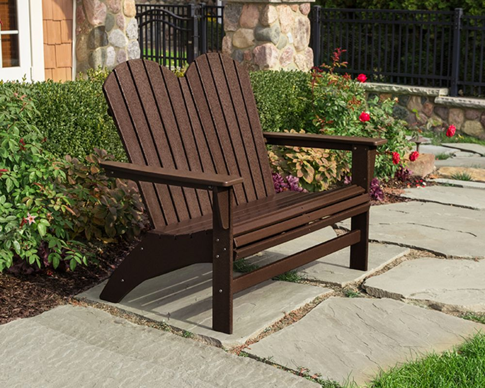 Portside Double Adirondack Bench Adirondack Chairs Rustic