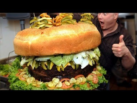 Huge versions of your favourite food - YouTube