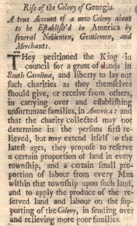 King George granted & signed the Charter of 1732. The Charter of ...
