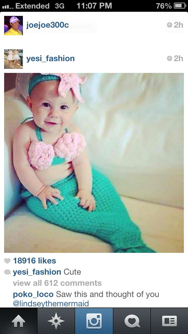 Mermaid Costume Things I Will Do With My Grandbabies Pinterest