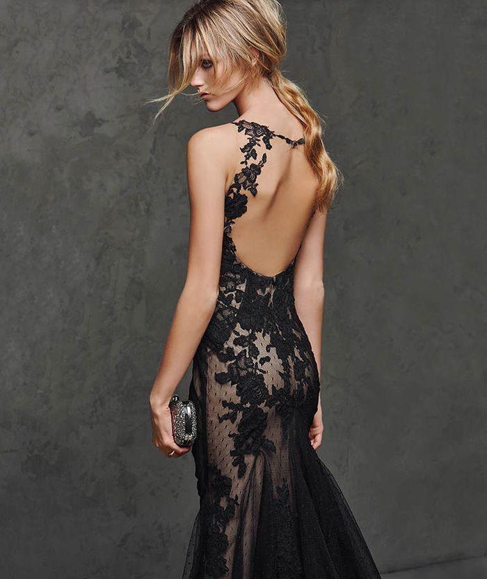 Vestido largo invitada de boda: Pronovias | Invitadas | Pinterest