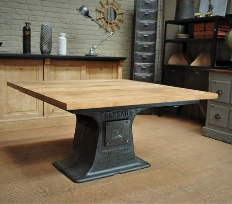 industrial square dining table 140x140 cm meubles pinterest table cuisine meubles et bureau. Black Bedroom Furniture Sets. Home Design Ideas