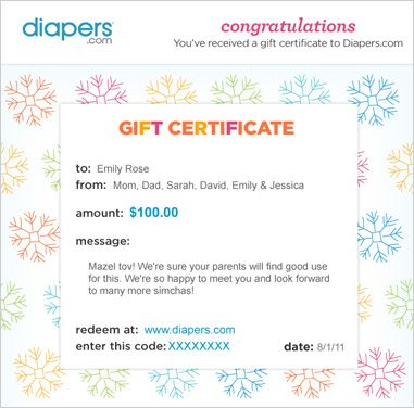 Diapers.com Gift Certificates - Gift Cards - Shop Now at Diapers ...