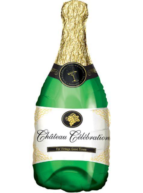 Foil Champagne Bottle Balloon 36in