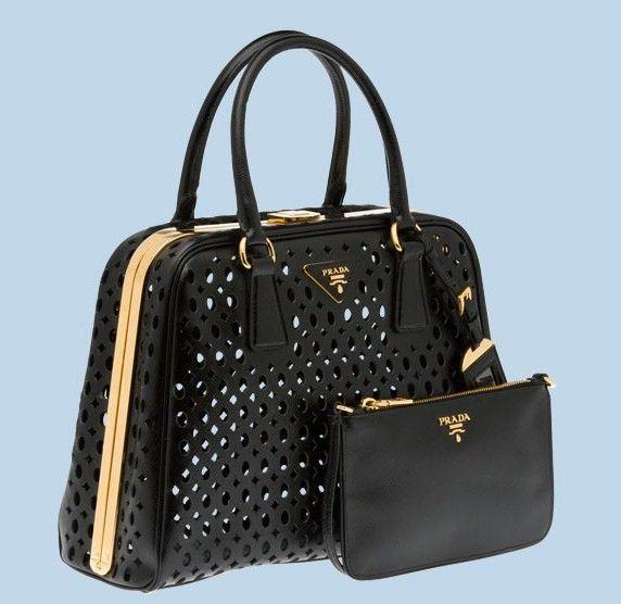 LADY~TOTES prada BAG Borse nera borse forata vernice Pinterest OAXUOp