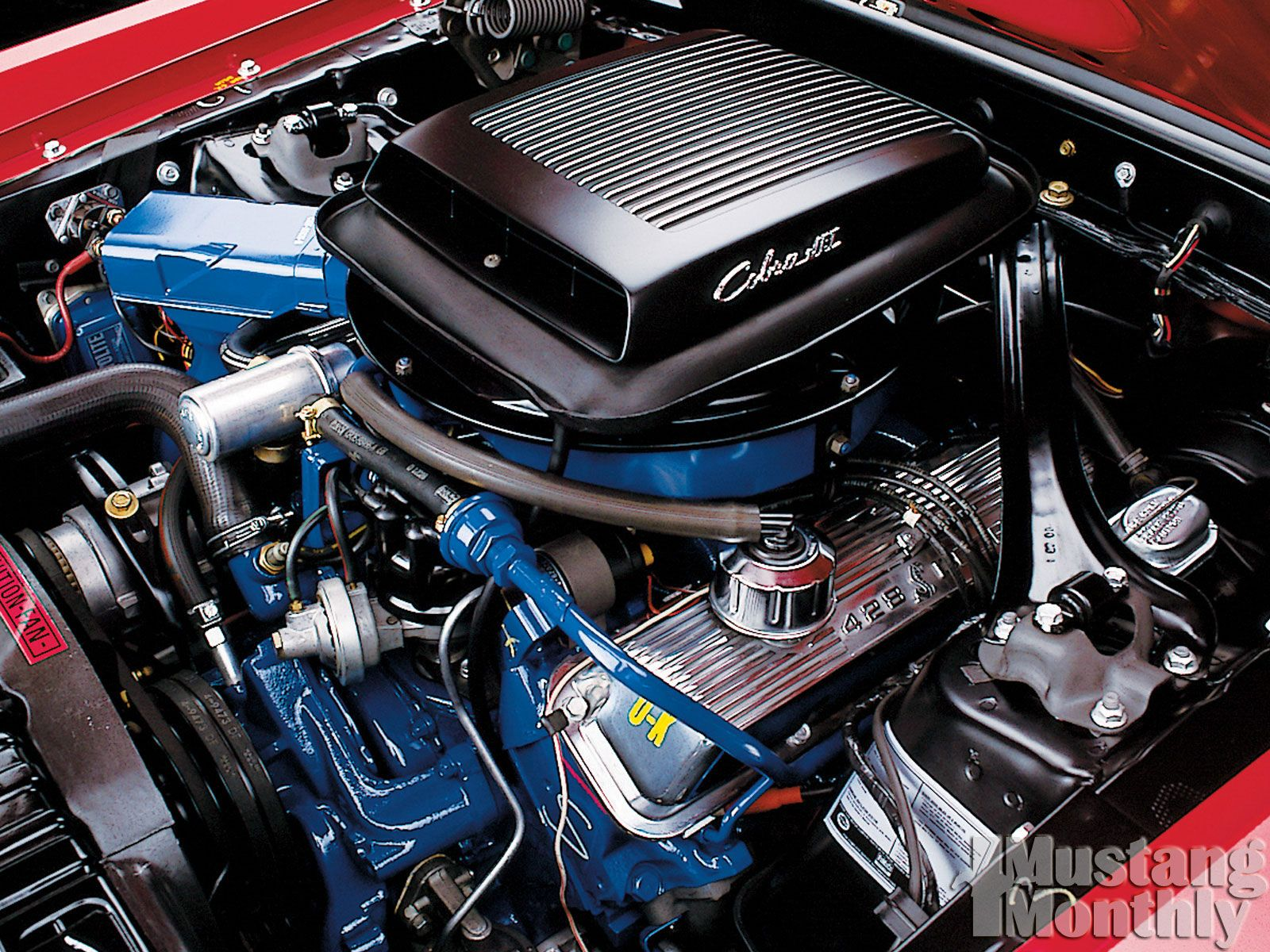 428 cobra jet engine and 427 ford engine  | Mustangs