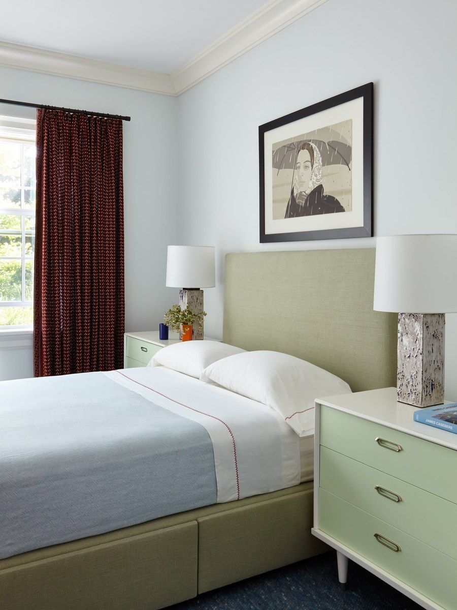 Bettwäsche Tom Taylor Benjamin Moore S Palest Pistachio Creates A Soothing Backdrop For