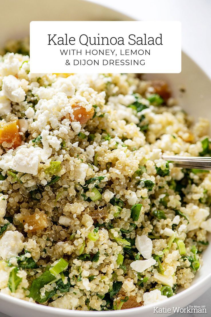 Kale Quinoa Salad with Honey, Lemon and Dijon Dres