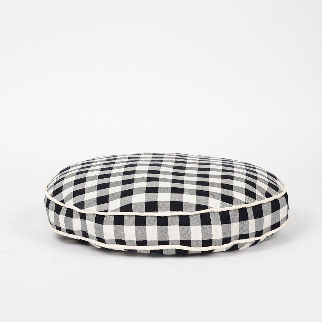 Buffalo Plaid Circle Bed Designer Dog Beds Covered Dog Bed Round Dog Bed