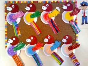 paper plate parrot craft | Paper plate animal craft | Pinterest ...
