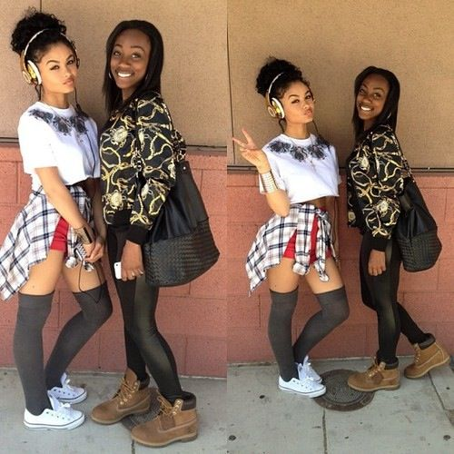 Mixed Pretty Girls With Swag And Snapbacks Pin by Shhh.... on Ind...