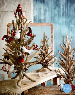 seaside inspired beach decor driftwood christmas decor for a natural beach style christmas - Beach Style Christmas Decorations