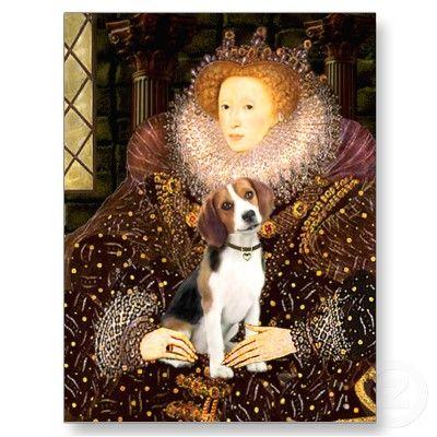 Beagle 1 Queen Elizabeth I Postcard Zazzle Com Beagle Dog