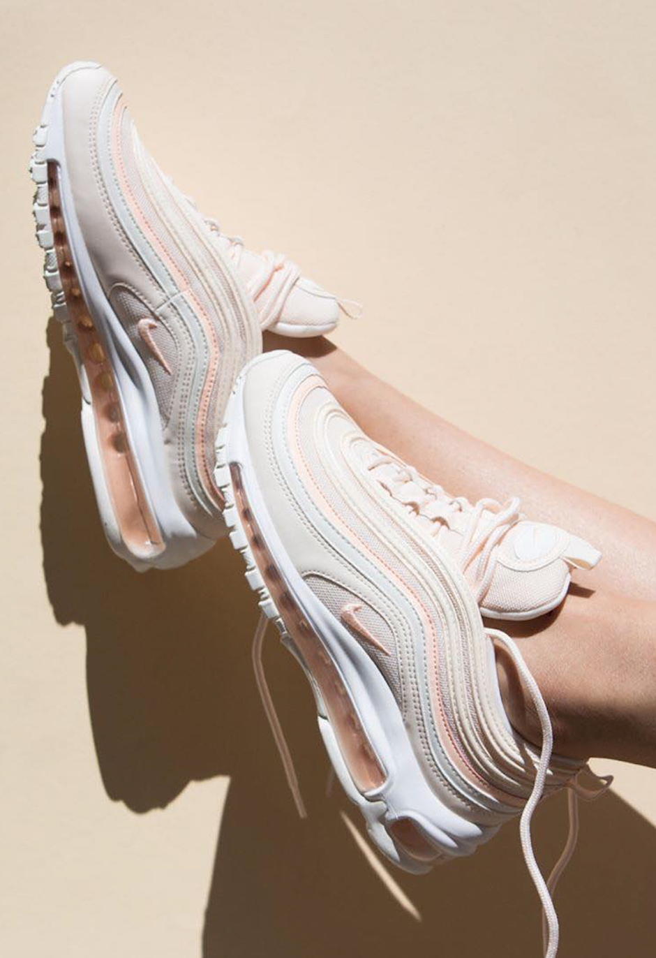 b0679c62de523 Stylish Nike shoes. The new Nike Air Max 97 OG sneakers in a guava   ice    pink   peach   cream   salmon   beige colour.