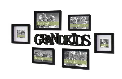 7 Piece Grandkids Gallery Set of Frames including Grandkids Plaque ...