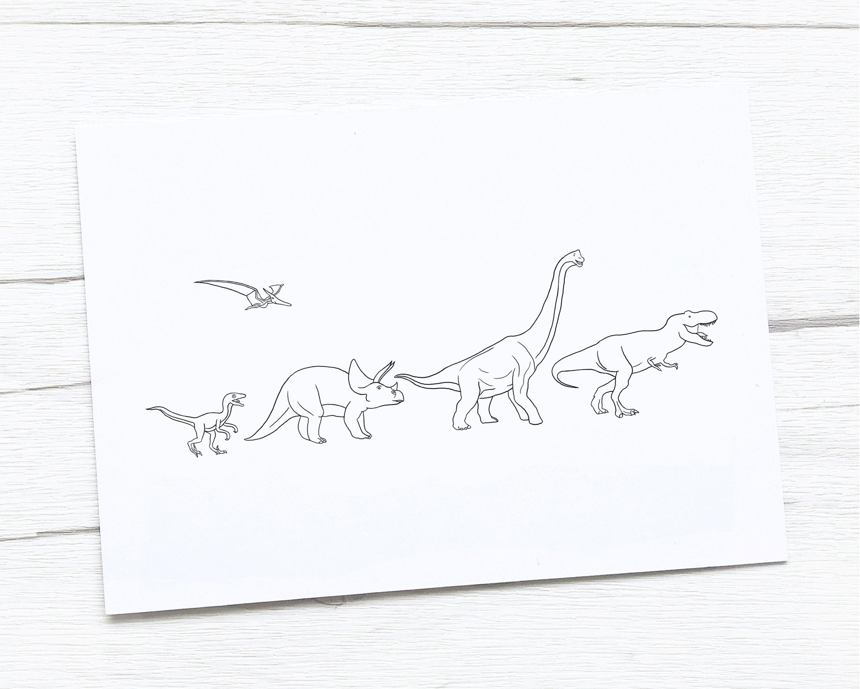 Dinosaur Print | Dinosaur Illustration