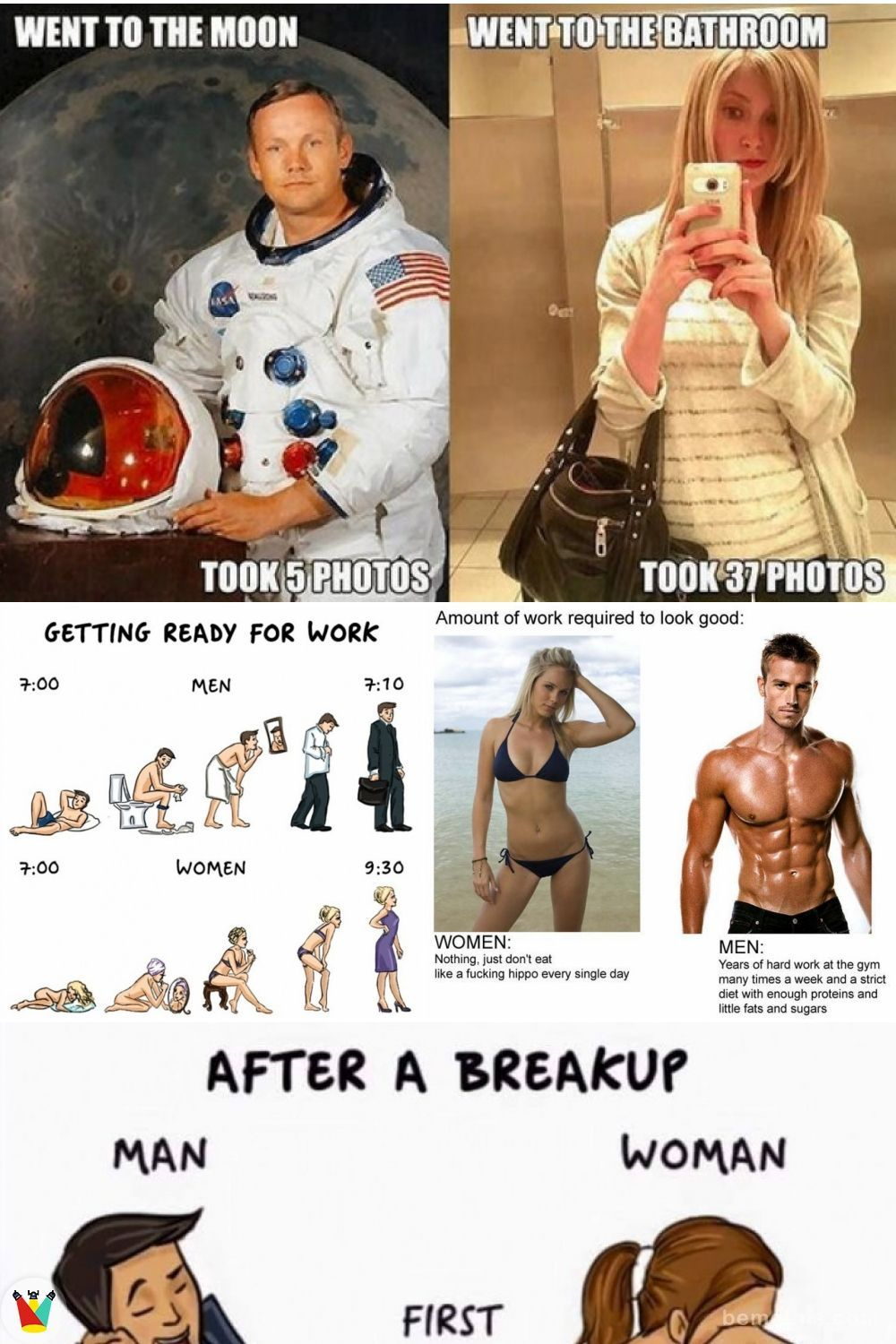 Difference Between Men And Women 34 Funny Memes Men Women Difference Funny Memes Photos Humor Men Vs Women Humor Funny Pictures Of Women Funny Memes