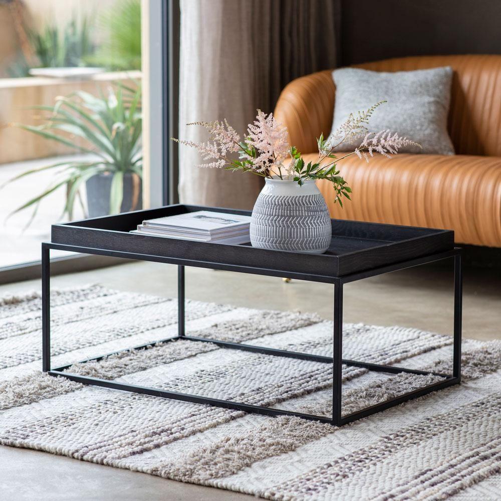 Matte Oak Coffee Table Black Oak Coffee Table Contemporary Coffee Table Coffee Table [ 1000 x 1000 Pixel ]